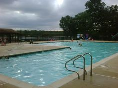 One of the pools at Hospitality Creek Campground