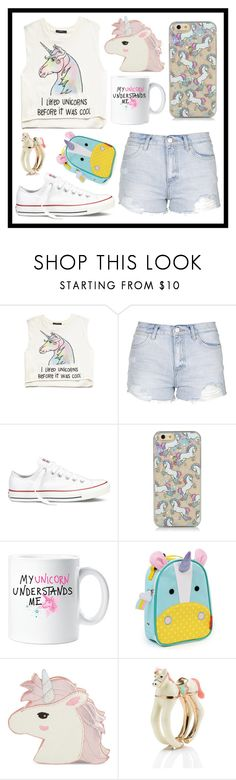 """""""#334 unicorns"""" by xjet1998x ❤ liked on Polyvore featuring Forever 21, Topshop, Converse, Skip Hop, Skinnydip, Kate Spade, women's clothing, women, female and woman"""