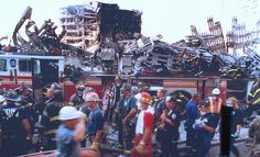 9/11. FDNY's TL-124 in front of E10 & L10 quarters.