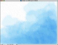 A wash created in Photoshop #DaniJones watercolor painting tut
