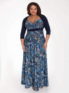PRE ORDER: Katsia Plus Size Maxi Dress with Matching Shrug