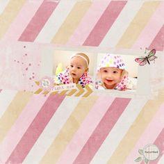 Sparkleheart - Renewal Blog Train Baby Girl Digital Scrapbooking Layout at Pixel Scrapper