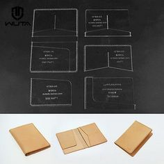 Passport-template-set-Clear-Acrylic-Pattern-Card-case-Leathercraft-Tools-834