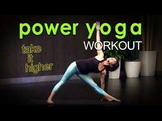 38mins-Sweaty Power Yoga Workout ~ Take it Higher - YouTube