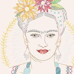 PDF - Frida Kahlo Portrait Pattern & Stitch Atlas