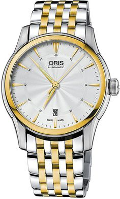 Oris 73376704351MB Atelier Silver and Gold Plated Stainless Steel Watch - for Men