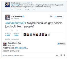 Autora de Harry Poter responde a fã q nao conseguia imaginar Dumbledore sendo gay