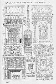 English Renaissance ornaments  A History of Architecture on the Comparative Method by Sir Banister Fletcher