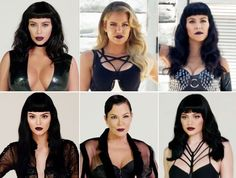 See what most of the Kardashian-Jenners look like in pinup bangs in a behind-the-scenes photo shoot!