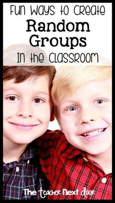 Read about lots of ways Teachers can randomly create partners or small groups in the classroom. You'll be surprised how much your students will LOVE these ideas!