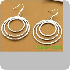 Hot selling 925  sterling Sliver Earrings Super fashion 925 Sterling Silver earrings Jewelry Earrings