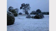 Snow at Goulburn Police Academy NSW 12/10/2012