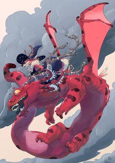 Salamander dragon., Claire Gary on ArtStation at https://www.artstation.com/artwork/qkDVP