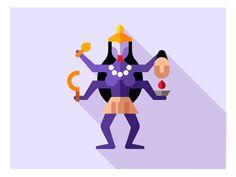 काली by Oleg Beresnev All Icon, Game Design, Illustrators, Disney Characters, Fictional Characters, Aurora Sleeping Beauty, Disney Princess, Graphic Art, Icons