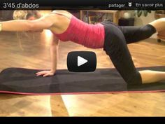 4 minutes workout for your abdominals. Flatten your belly with this everyday abs set. Chalenge Sport, Lucile Woodward, Video Sport, Gym And Tonic, Coach Sportif, Take Care Of Your Body, Matins, Workout Challenge, Master Class