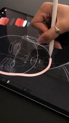 Digital Painting Tutorials, Digital Art Tutorial, Art Tutorials, Instruções Origami, Digital Art Beginner, Amazing Art, Awesome, Ipad Art, Art Drawings Sketches Simple