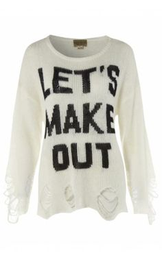 Wildfox Lets Make Out Knit