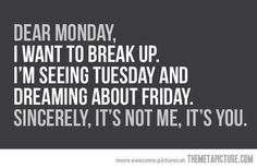 Sorry monday...