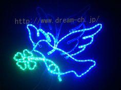 Xmas Lights LEDクリスマスイルミネーション 青い鳥(クローバー) ハンドメイド インテリア 雑貨 Handmade ¥11340yen 〆01月05日