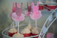 A Tu Tu Birthday Party with a pink ballerina