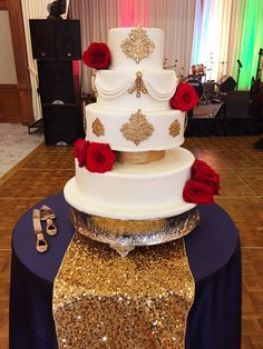 Beauty and the Beast Theme Wedding Cake by Nemacolin Woodlands Resort Pastry Chef