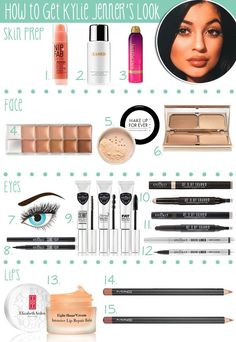 The products you need to get Kylie Jenner's look! #makeup #tutorial