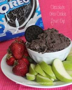 Yumm!!! Chocolate Oreo Cookie Fruit Dip-A great way to enjoy fruit, perfect for a party or just a snack!