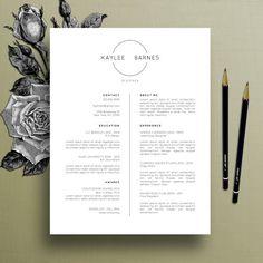 professional resume template cv template simple resume modern resume