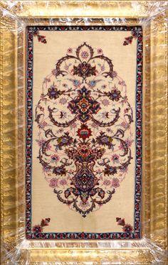 "Buy Esfahan Persian Rug 2'  0"" x 3'  6"", Authentic Esfahan Handmade Rug"