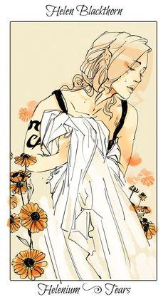 From Cassandra Jean ...  flower card, helen blackthorn, the mortal instruments