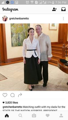 Filipiniana Wedding Theme, Modern Filipiniana Dress, Barong Tagalog For Women, Casual Friday Outfit, Cute Dresses, Midi Dresses, Celebrity Dresses, Matching Outfits, Traditional Dresses