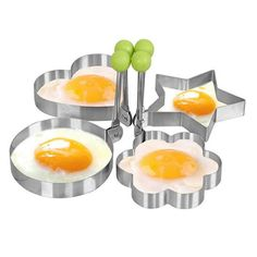 Egg Ring, I-Choice Nonstick Stainless Steel Egg Mold Omelette Mould Egg Rings Pancake Rings Fried Egg Cooker Molds Cooking Tools Kitchen Gadgets, Round/Heart/Star/Flower Shape, Set of 4 Cooking Tools, Fried Egg Ring, Fried Eggs, Pancake Cake, Shapes Biscuits, Egg Rings, Specialty Cookware, Pancake, Bucket Lists