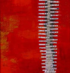 'Spintale' (2005) by artist Daniella Woolf. encaustic painting. via the artist's site