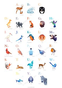 Alphabet wall art Alphabet poster abc animals by tinykiwiprints Alphabet Wall Art, Alphabet Print, Animal Alphabet, Geometric Poster, Geometric Animal, Abc Poster, Simple Artwork, Animal Posters, Calendar Design