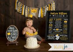 11x14 Where The Wild Things Are First Birthday Stats Poster - Wild Things Chalkboard Stats Sign - Chalkboard Wild Thing Milestone Sign - Max Crown {$20} THIS LISTING IS FOR THE STATS POSTER ONLY! Links to the crown, banner, cake bunting and matching invites are listed below. Prior to