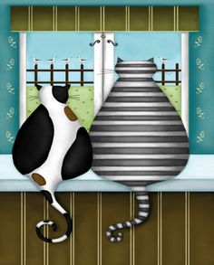 Whimsical (Decorative Art) Photos at AllPosters.com Neighborhood Watch. Reminds me of Moo & Muffin