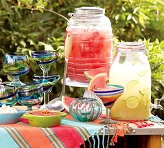 Cool Drink Recipes: Agua Fresca | Cost Plus via Cost Plus World Market >> #WorldMarket Outdoor Entertaining & Decor