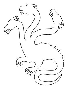 Hydra pattern. Use the printable outline for crafts, creating stencils, scrapbooking, and more. Free PDF template to download and print at http://patternuniverse.com/download/hydra-pattern/