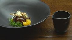 Chocolate Mousse with Burnt Orange Cream and Fennel - by Australia Masterchef contestant Tamara Lamb Koftas, Masterchef Recipes, Masterchef Australia, Onion Jam, Chocolate Glaze, Fennel, Coriander, Tray Bakes