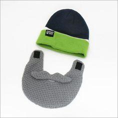 BeardHead ニットキャップ テールゲート グリーン/グレーの画像