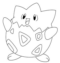 How To Draw Togepi ~ Draw Central Pixel Pokemon, Pyssla Pokemon, Pokemon Craft, Pokemon Party, Cute Pokemon, Easy Cartoon Drawings, Colorful Drawings, Easy Drawings, Pikachu Drawing