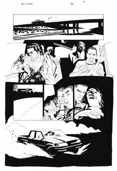 EDUARDO RISSO - 100 BULLETS Nº80 PAGE 5 ( ONCE UPON A CRIME: A SPLIT DECISION ) Comic Art