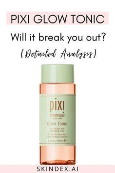 Will the Pixi Glow Tonic break you out? Check out the review, analysis and user reaction to this cult favourite glycolic acid toner. #pixi #glowtonic