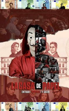 La casa de papel fan made poster, by LilouFranchise