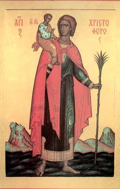 Full of Grace and Truth: St. Christopher the Great Martyr of Lycia Christ Is Risen, He Is Risen, Saint Christopher, Byzantine Art, Catechism, Orthodox Icons, Little Sisters, Saints, Catholic