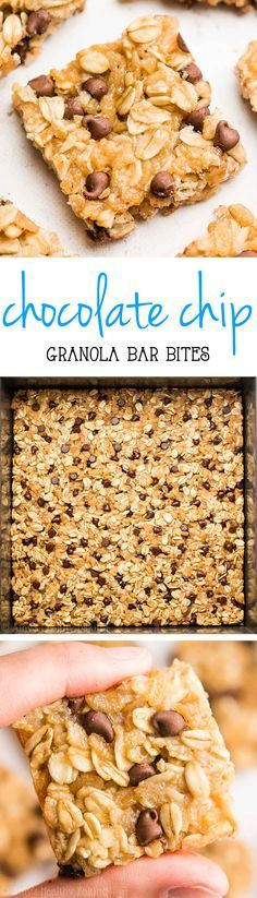 healthy granola bars are full of chocolate! So easy, so good & just 38 calories! Perfect for grab-and-go snacks!These healthy granola bars are full of chocolate! So easy, so good & just 38 calories! Perfect for grab-and-go snacks! Breakfast Low Carb, Clean Eating Breakfast, Breakfast Recipes, Snack Recipes, Cooking Recipes, Breakfast Ideas, Eating Clean, Breakfast Crockpot, Crockpot Recipes