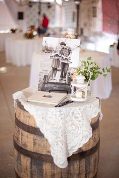 Lovely shot. This would make a great tribute table at your wedding ceremony to remember those not present.
