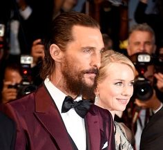 "mccconaughey: ""Matthew McConaughey and Naomi Watts at the Sea of Trees premiere at the Cannes Film Festival on May "" Naomi Watts, Matthew Mcconaughey, Cannes Film Festival, Best Actor, Trees, Actors, Sea, Home Decor Trees, Wood"