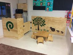 Plywood and Perspex panels for a clients Early childhood education centre