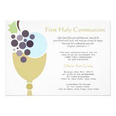 eucharist invitation   First Communion Custom Invitations from Zazzle.com